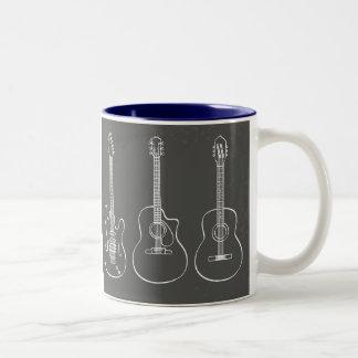 Guitar trio retro grunge music mug
