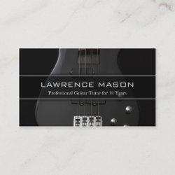 Guitar Tutor Photo of Bass Guitar - Business Card