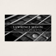 Guitar Tutor Photo Of Strings - Business Card at Zazzle
