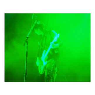 Guitar Two Green P Posters