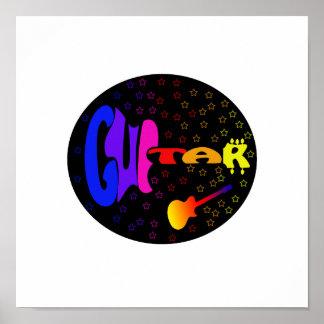 guitar txt shaped stars bk circle music image.png poster