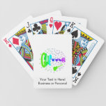guitar txt shaped stars music design 4 bicycle card deck