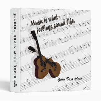 Guitar Version #2 – What Feelings Sound Like 3 Ring Binder