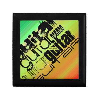Guitar; Vibrant Green, Orange, & Yellow Gift Box