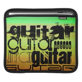 Guitar; Vibrant Green, Orange, & Yellow Sleeve For iPads