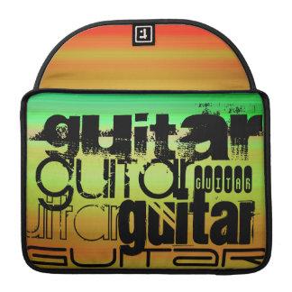 Guitar; Vibrant Green, Orange, & Yellow Sleeve For MacBook Pro