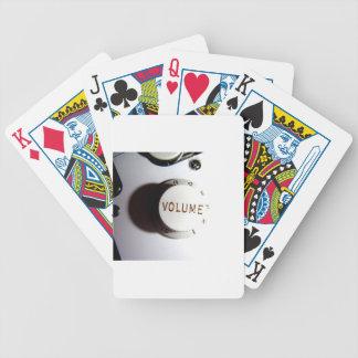 Guitar Volume Knob Bicycle Playing Cards
