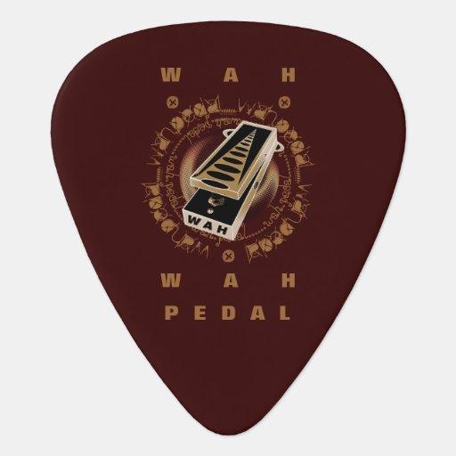 Guitar Wah Pedal,Black and Brown Pick