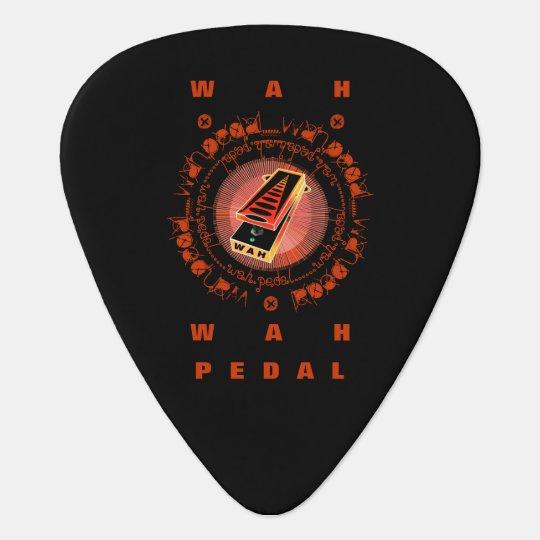 Guitar Wah Pedal,Orange Yellow Guitar Pick