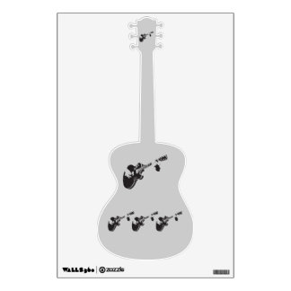 Guitar - wall decal