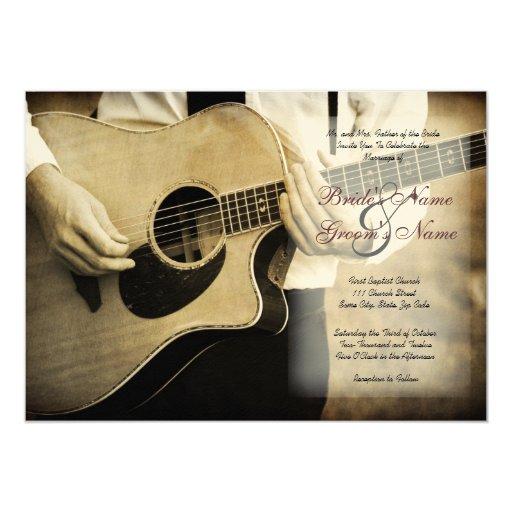 Guitar Wedding Songs: Guitar Wedding Invitation