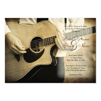 "Guitar Wedding Invitation 5"" X 7"" Invitation Card"