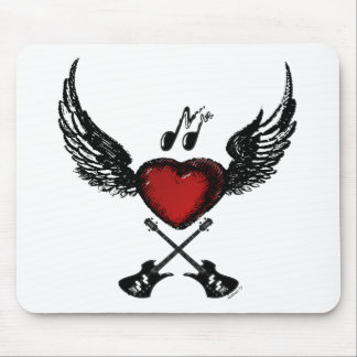 Guitar Wingedheart Mouse Pads