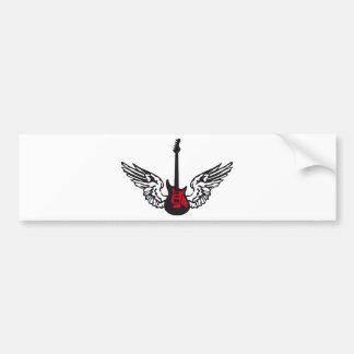 guitar wings bumper sticker