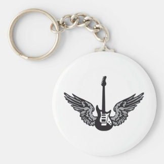 guitar wings keychain