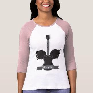 Guitar Wings Ladies Raglan - Customized T Shirts