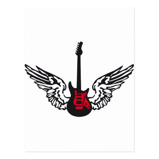 guitar wings postcards