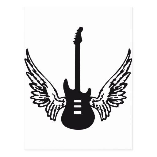 guitar wings post cards