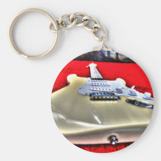 GUITAR WITH ART EFFECTS KEYCHAIN