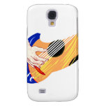 """Guitar with Hand and Word """"Music"""" graphic Samsung Galaxy S4 Covers"""