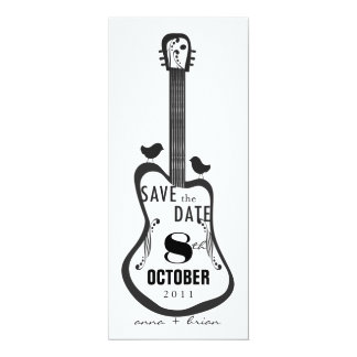 Guitar with Love Birds Card
