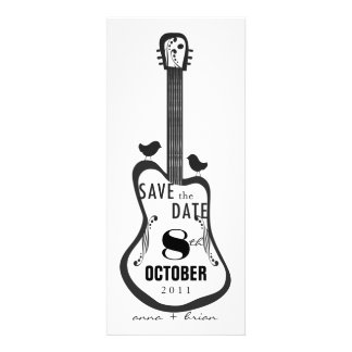 Guitar with Love Birds Personalized Announcements