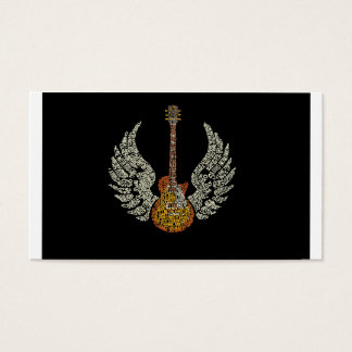 Guitar with wings business card