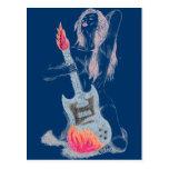 Guitar Woman Post Card