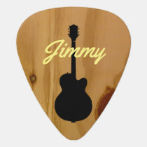 guitar wood handwritten name cool guitar pick