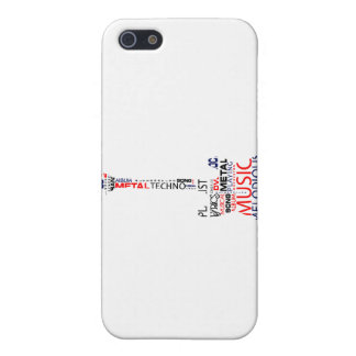 guitar word fill red blue black.png cover for iPhone SE/5/5s