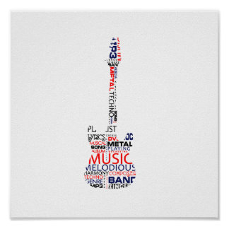 guitar word fill red blue black.png poster