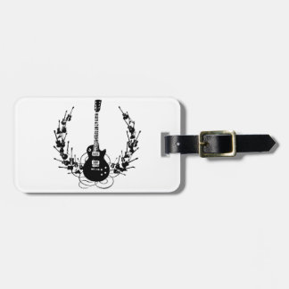 Guitar Wreath Tag For Bags