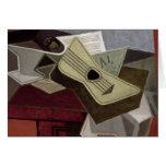 Guitar y Newspaper, 1925 Tarjeta De Felicitación