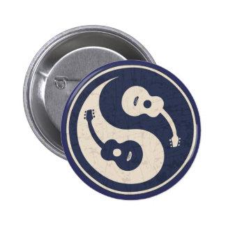 Guitar Yang -blue Pinback Button