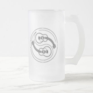 Guitar Yang Line Frosted Glass Beer Mug
