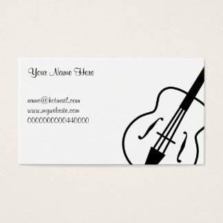 Guitar, Your Name Here, Business Card