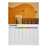 Guitarbody / Timetable Posters