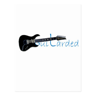 Guitarded Black Electric Guitar Post Cards