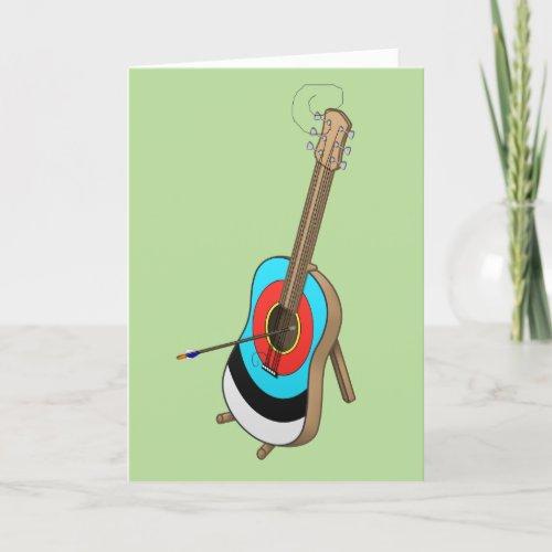 Guitarget greeting card