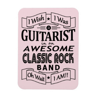 GUITARIST awesome classic rock band (blk) Magnet