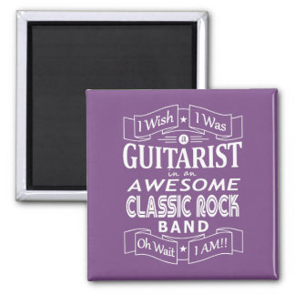 GUITARIST awesome classic rock band (wht) Magnet