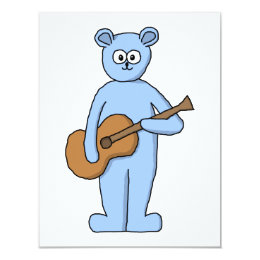 Guitarist Bear. Card