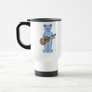Guitarist Bear. Travel Mug