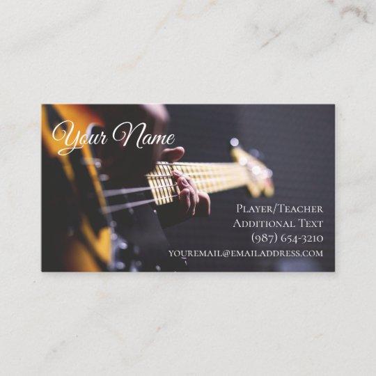 guitarist business card teacher songwriter band zazzle com