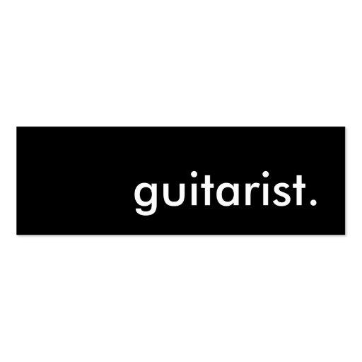 guitarist. business cards