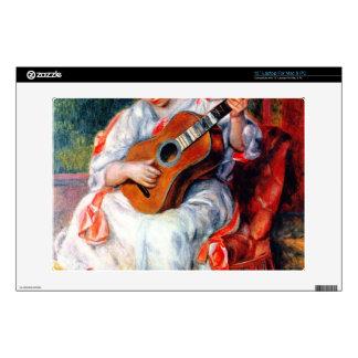 "Guitarist by Pierre Renoir 13"" Laptop Decal"