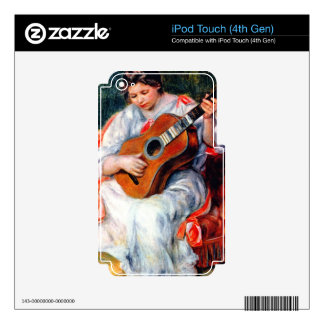 Guitarist by Pierre Renoir iPod Touch 4G Decal