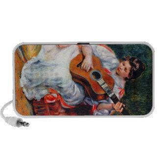 Guitarist by Pierre Renoir Mini Speakers