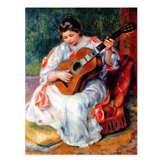 Guitarist by Pierre Renoir Postcard