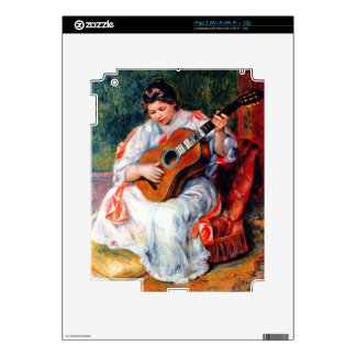 Guitarist by Pierre Renoir Skins For The iPad 2